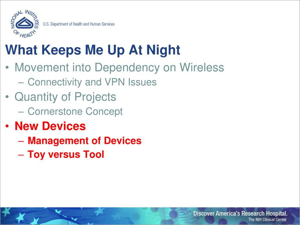 PPT - NIH Clinical Center: An IT Perspective PowerPoint