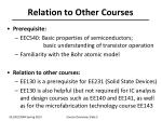 relation to other courses