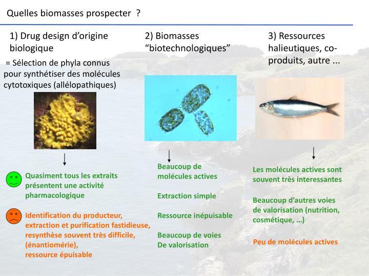 "2) Biomasses ""biotechnologiques"""