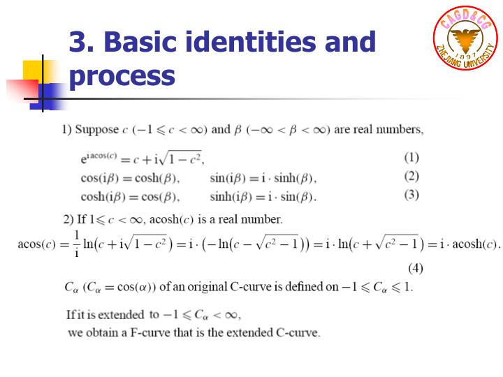 3. Basic identities and