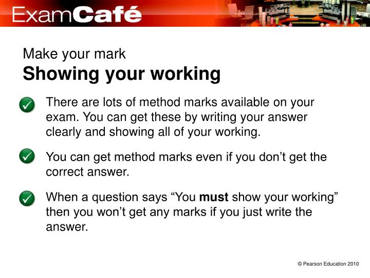 make your mark showing your working n.