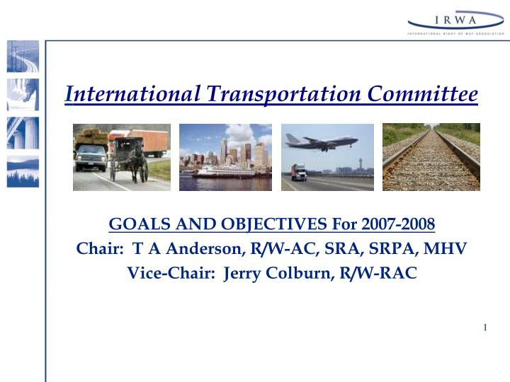 i nternational transportation committee n.