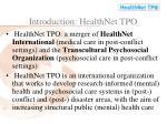 introduction healthnet tpo