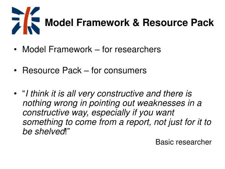 Model Framework & Resource Pack