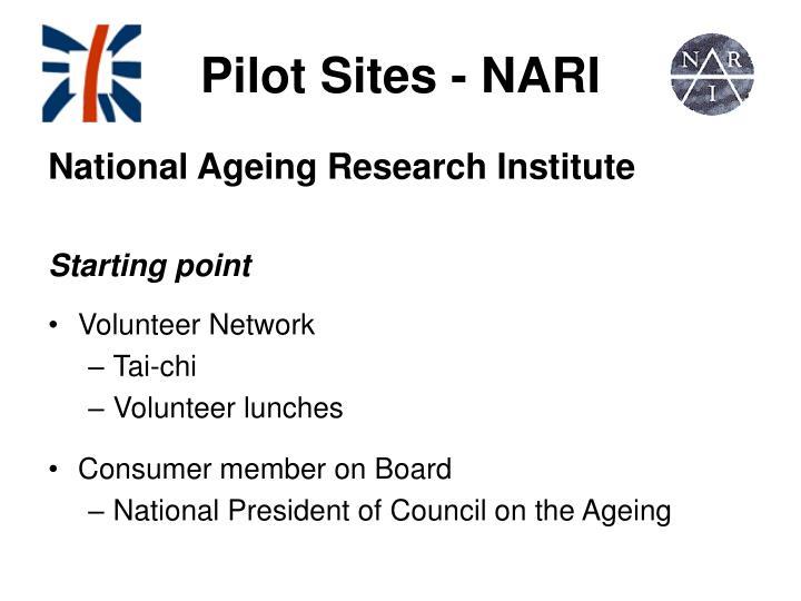 Pilot Sites - NARI