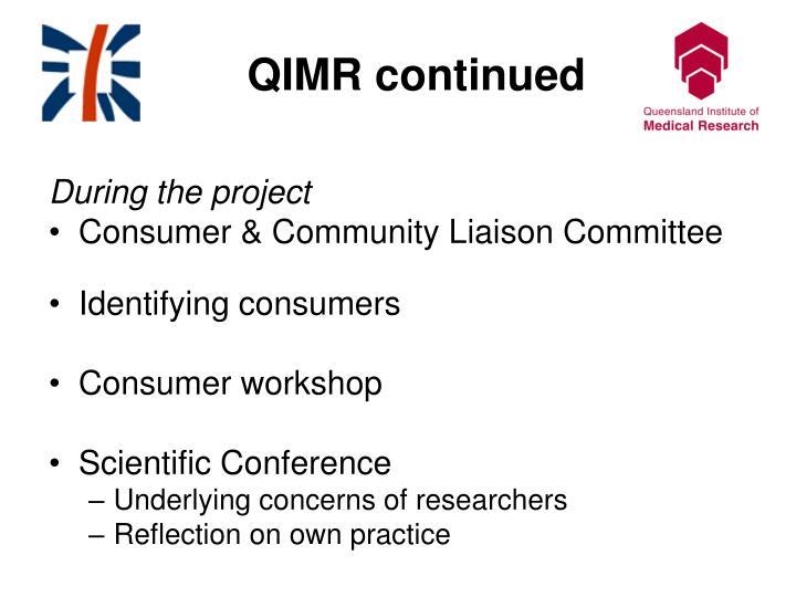 QIMR continued