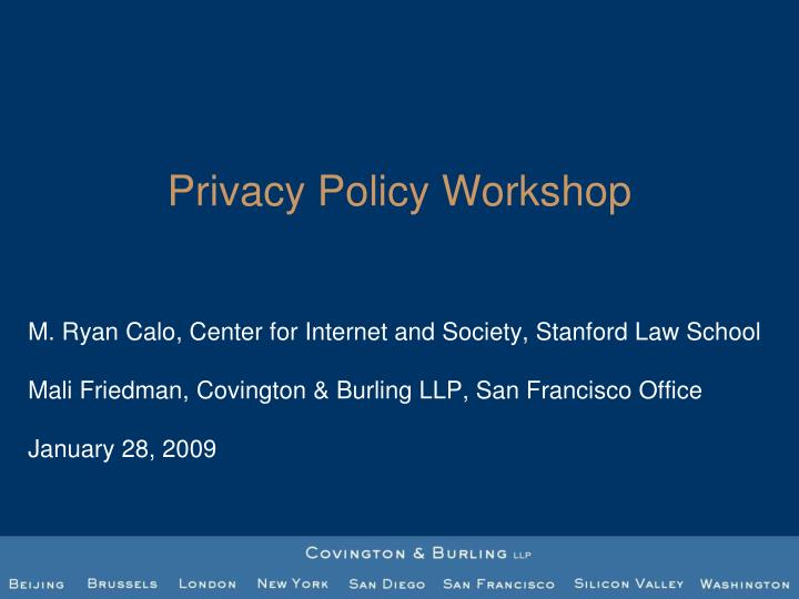 privacy policy workshop n.