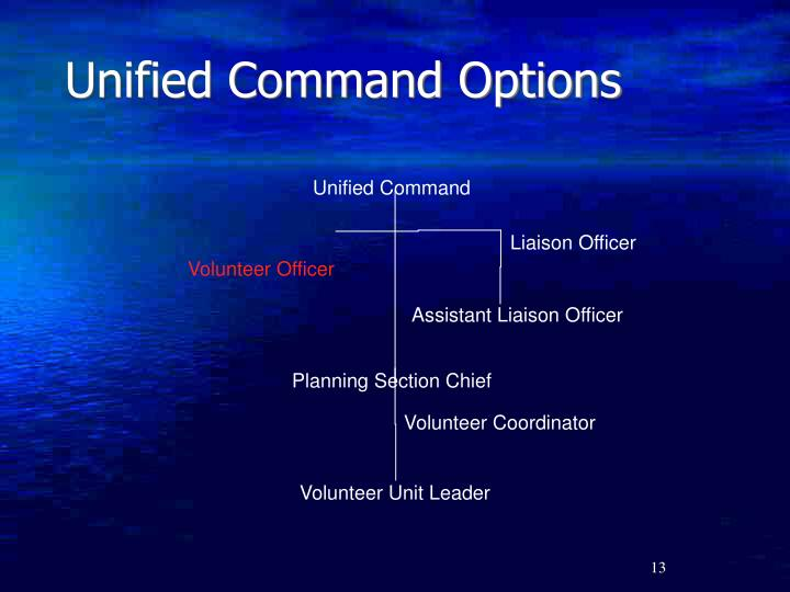 Unified Command Options