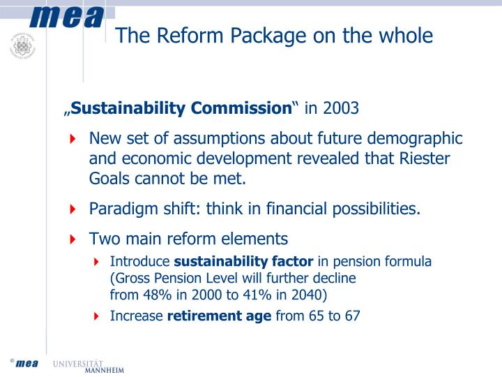 The Reform Package on the whole