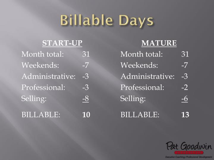 Billable Days
