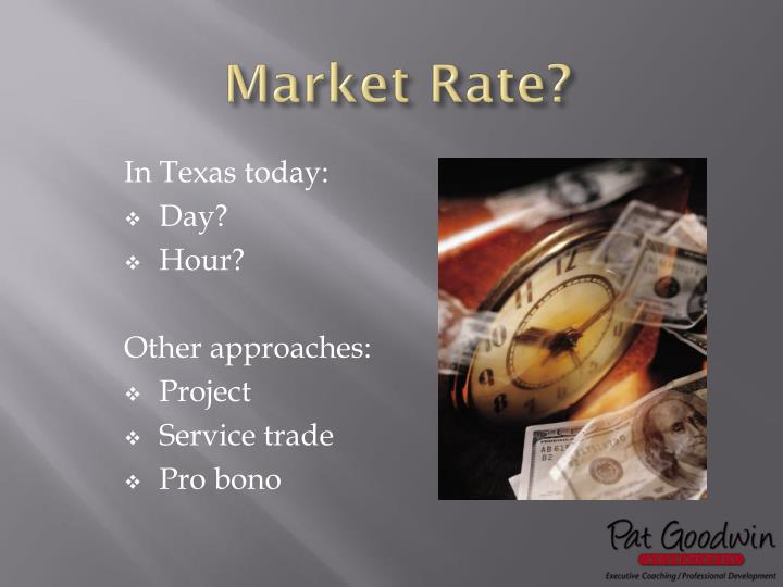 Market Rate?