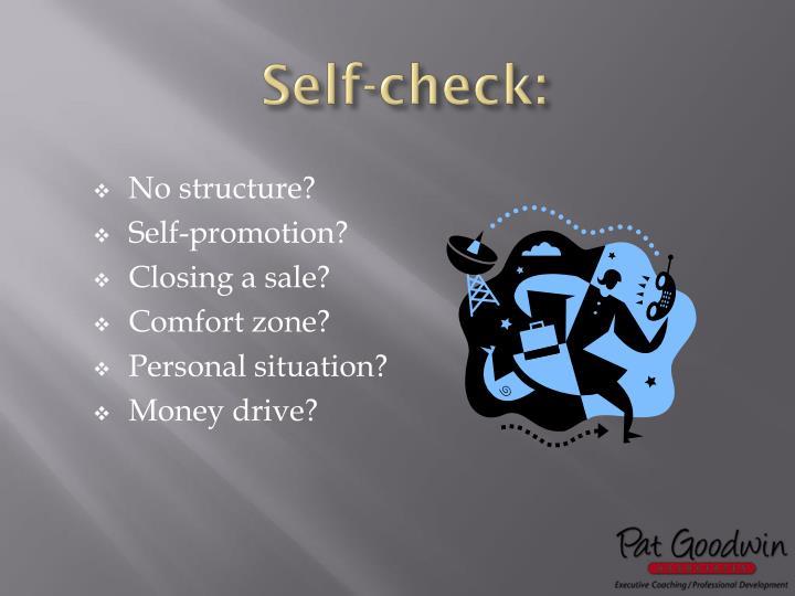 Self-check: