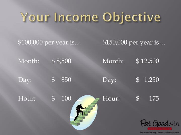 Your Income Objective