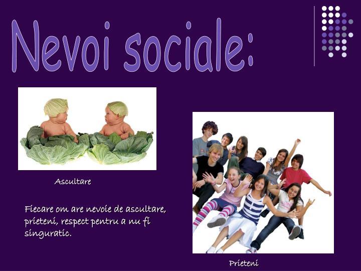 Nevoi sociale:
