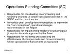 operations standing committee sc