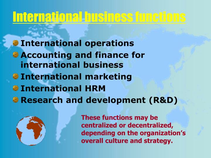 functions of international marketing