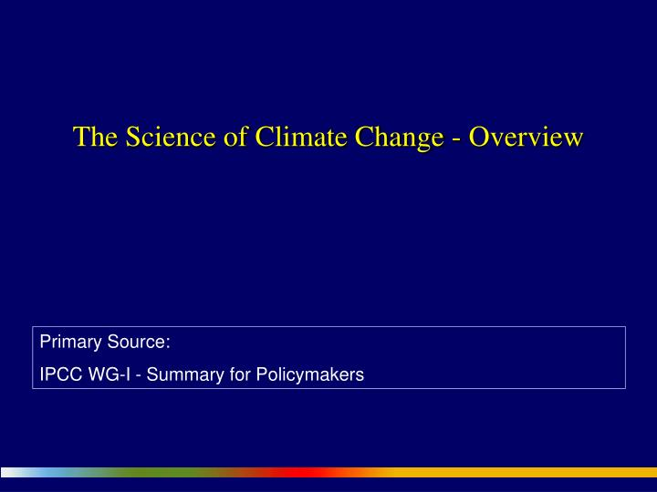 the science of climate change overview n.