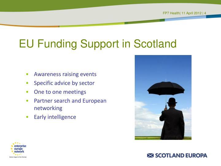 EU Funding Support in Scotland
