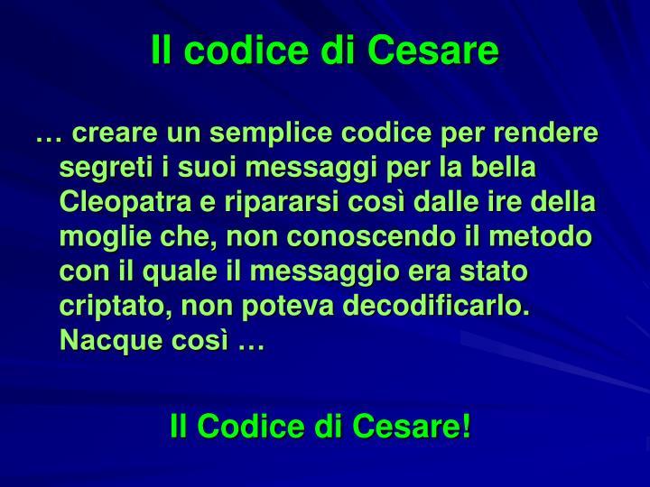 Il codice di Cesare