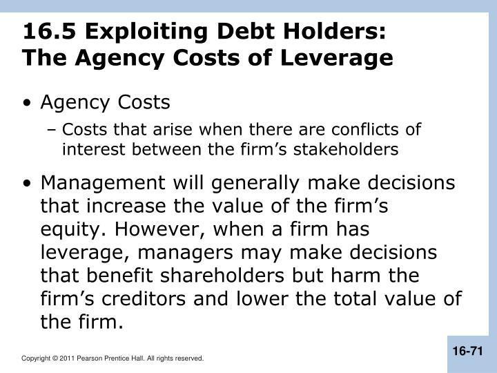 16.5 Exploiting Debt Holders:
