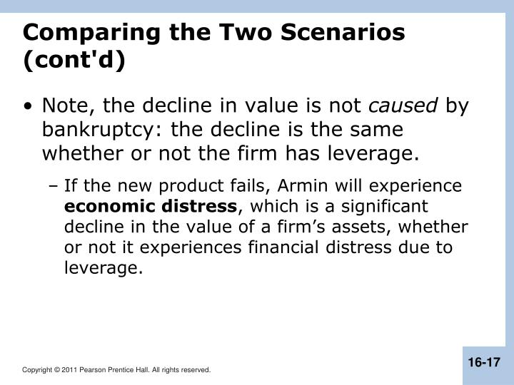 Comparing the Two Scenarios (cont'd)