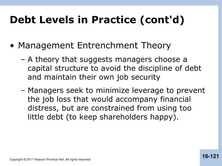 Debt Levels in Practice (cont'd)