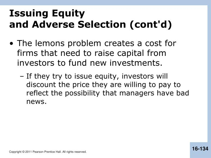 Issuing Equity