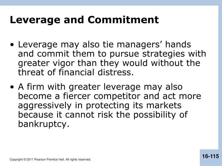 Leverage and Commitment