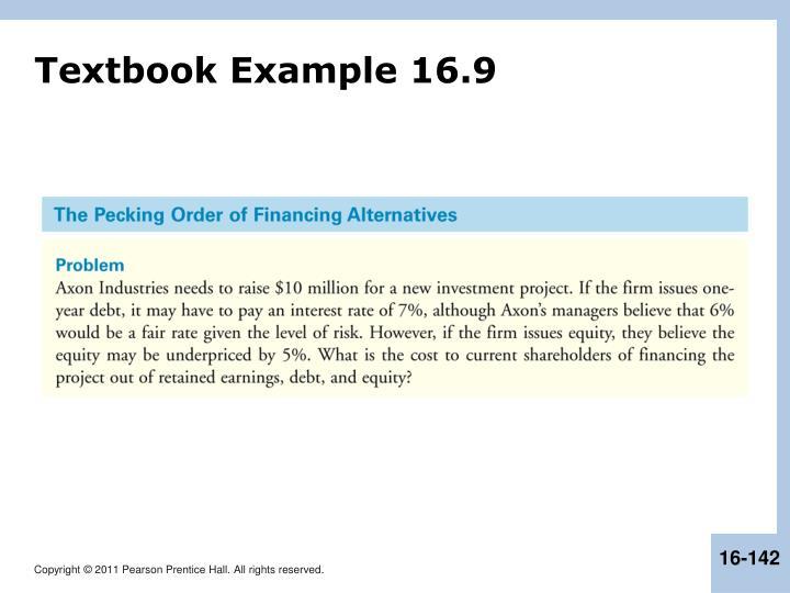 Textbook Example 16.9