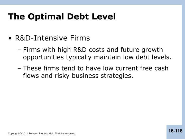 The Optimal Debt Level