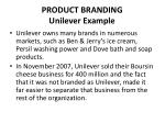 product branding unilever example