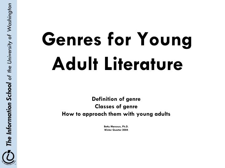 Genres for young adult literature