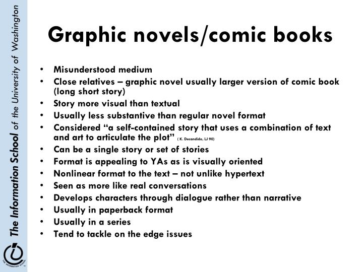 Graphic novels/comic books