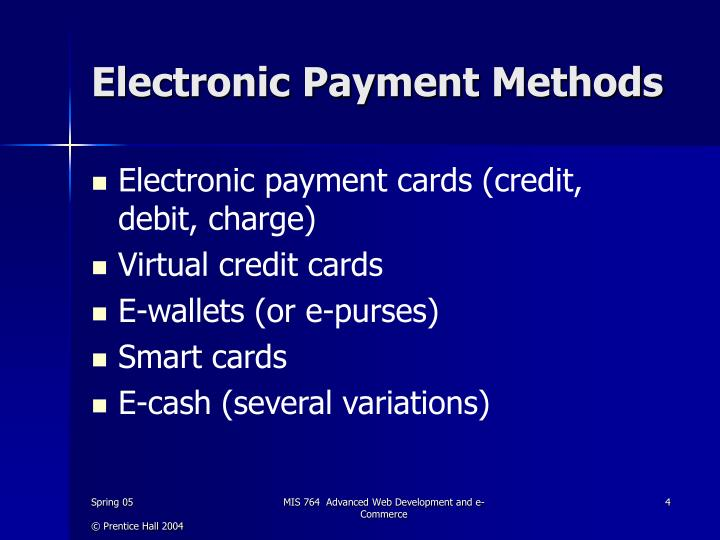 Electronic Payment Methods