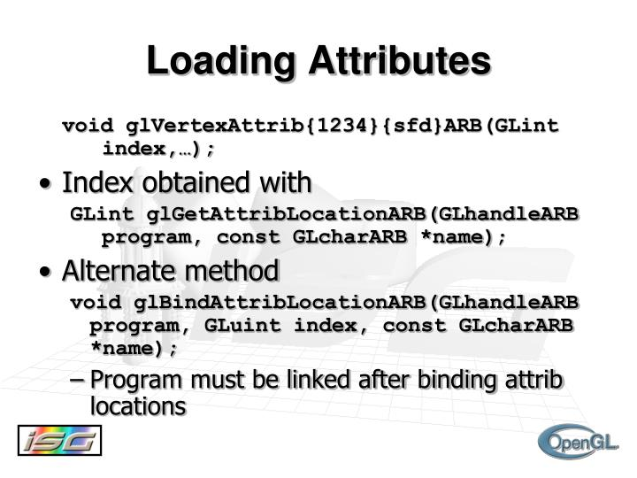 Loading Attributes