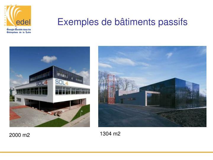 Exemples de bâtiments passifs