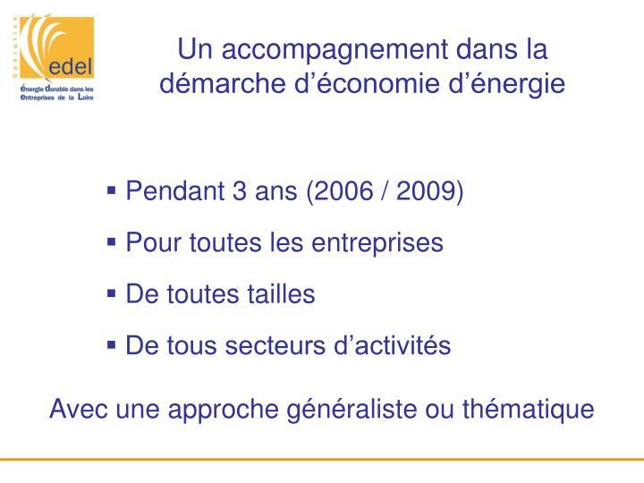 Un accompagnement dans la démarche d'économie d'énergie