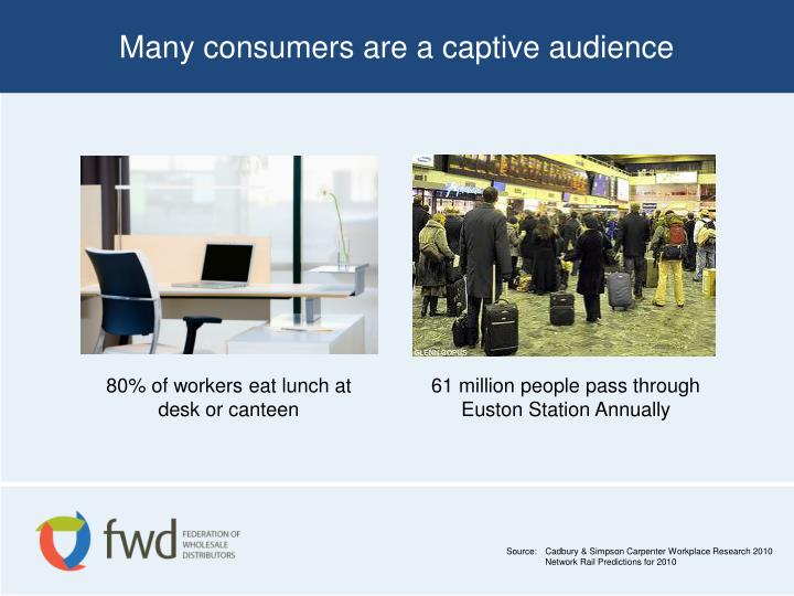 Many consumers are a captive audience