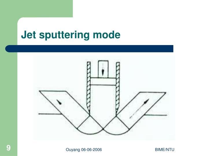 Jet sputtering mode