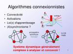 algorithmes connexionnistes
