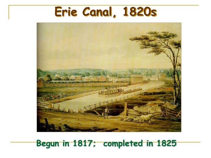 Erie Canal, 1820s