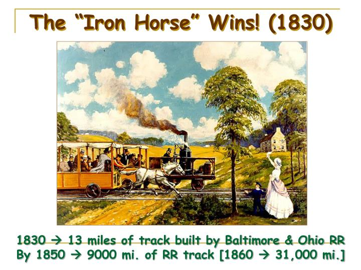 """The """"Iron Horse"""" Wins! (1830)"""