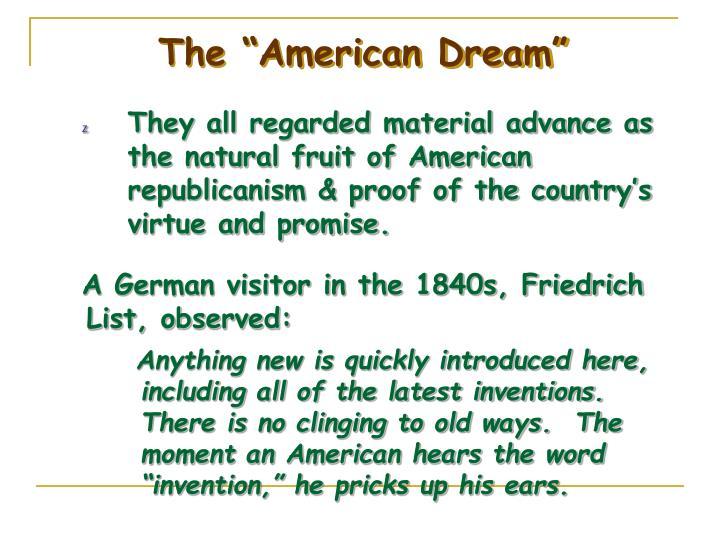 """The """"American Dream"""""""