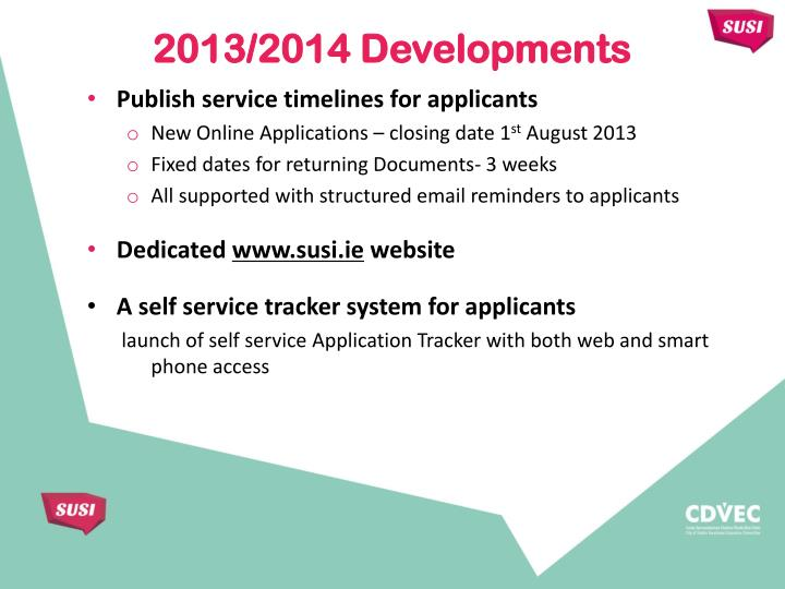 Publish service timelines for applicants