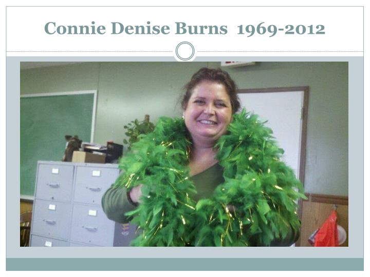 Connie denise burns 1969 2012
