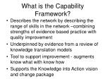 what is the capability framework