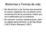 bioformas o formas de vida