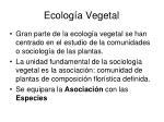 ecolog a vegetal