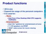 product functions