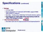 specifications continued2